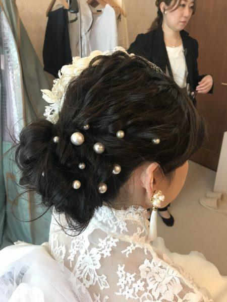 ウェディングヘアスタイル,花嫁,プレ花嫁