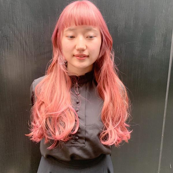 ロングヘア カット 前髪